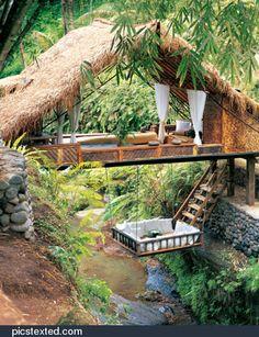 Tree house anyone? phiplanet Tree house anyone? Tree house anyone? Bali Resort, Resort Spa, Jungle Resort, Future House, My House, Open House, Wendy House, House Property, House Yard