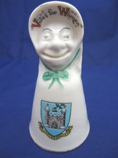 Pre-WW1 (1913) Crested Carlton Ware China Suffragette Knaresborough Crest Bell