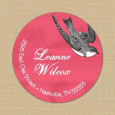 Fly Away Custom Address Labels or Stickers by PoshGirlBoutique