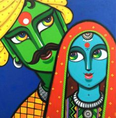 Turn your home into a gallery with exquisite art by Gouri Shirish Velhal. Buy curated original paintings, sculptures and gallery quality prints by world's artists. Rajasthani Painting, Rajasthani Art, Madhubani Art, Madhubani Painting, Durga Painting, Kalamkari Painting, Poster Color Painting, Fabric Painting, Diy Painting