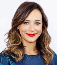 Rashida Jones - When you wear a red lip, keep your eyes simple and let your lips take center stage!