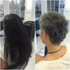 Valentina decidió dejar sus canas a la vista y #donar su #cabello y este fue el resultado! Guapisima  #imperfectsalon #sitges #donatupelo #natural #change #look #hair
