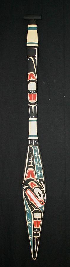 haida killer whale paddle by Laurence Scow INUIT  ART / ALASKAN NATIVE PEOPLES ' ART / NORTHWESTERN ART / NATIVE CANADIANS' ART : More At FOSTERGINGER @ Pinterest