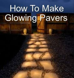 paint pavers, or really any rocked pathway, with Rust-Oleum Glow in the Dark paint. Essentially, all you do is paint the stones and when it's dry coat it with a sealant so that the in the dark paint lasts and survives the wear and tear and the various weather conditions and changes. The glow from the stones are said to last for about 2 hours.