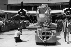 Last bomber rolls off assembly line.  Willow Run Bomber Plant - Detroit, Michigan 1945   #ArsenalOfDemocracy