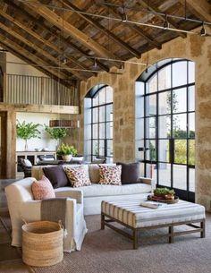 Arredare la casa in campagna in stile chic moderno - Soggiorno di campagna chic