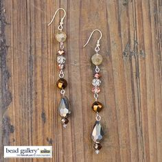 Learn to make your own Urban Glitz earrings designed by Denise Moore using Bead Gallery beads from @MichaelsStores #MadeWithMichaels