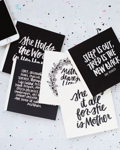Awesome free Mother's Day printables for photo book covers or DIY cards | Caravan Shoppe