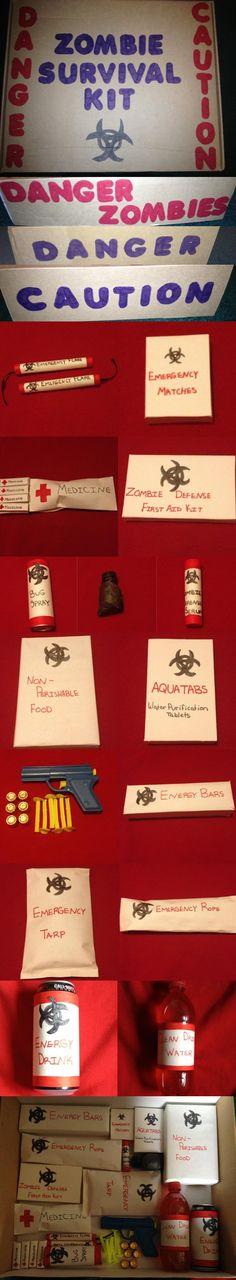 Nicks Birthday Present! Zombie Survival Kit! (Food Underneath)