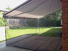 Auvents de Venise offers custom made quality fiber glass screens and mosquito nets for your home Mosquito Netting Patio, Mosquito Curtains, Screen Enclosures, Patio Enclosures, Diy Patio, Backyard Patio, Patio Decks, Outdoor Patios, Outdoor Rooms