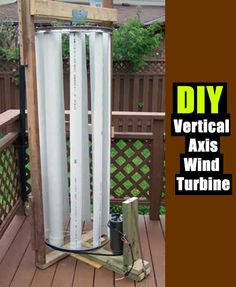 DIY Vertical Axis Wind Turbine - SHTF Preparedness
