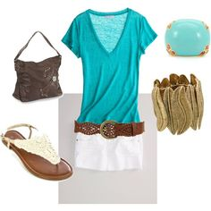 """Teal"" by michishell on Polyvore"