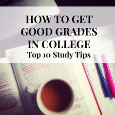 "Do you have midterms soon? Check out these 10 study tips from the article, ""How to Get Good Grades in College."" college student tips College Years, College Life, Snow College, College Semester, College Success, College Style, Dorm Life, College Hacks, School Hacks"