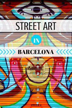 Street Art in Barcelona - | Barcelona Blonde | - a guide to Barcelona's coolest art scene, including where to find the best street art in Barcelona.