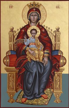 Church Icon, Madonna And Child, Blessed Virgin Mary, Mother Mary, Christian Art, Our Lady, Science And Nature, Christianity, Coloring Pages