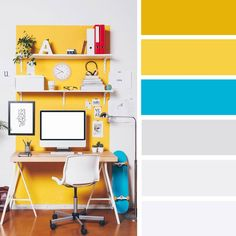 14 ideas Brighten up your room with yellow mustard color, blue and mustard  #color #mustard