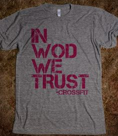 CROSSFIT: in WOD we trust