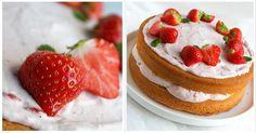 aardbeien slagroomtaart