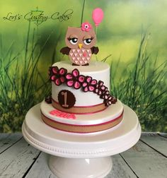 Little Owl Cake  - Cake by Lori Mahoney
