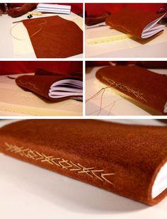 how to make a special handmade journal with an amazing stitch? /bookbinding sırttan dikişli defter yapım aşamaları