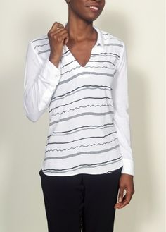 Azura Boutique - Monrow Clean Finish Shirt, $165.00 (http://www.shopazura.com/monrow-clean-finish-shirt/)