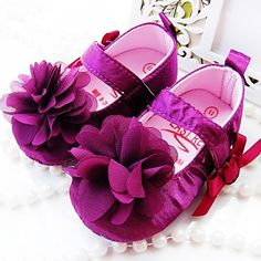 Girls' Shoes Round Toe First Walkers Flat Heel Flats with Flower Shoes More Colors available – USD $ 9.99