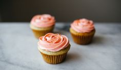 These cupcakes are jazzed up with a bit of Kendall-Jackson Grand Reserve Rosé in both the cake and the frosting, making for a double-the-fun, sophisticated, little cake that's fit for any springtime celebration.