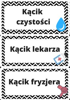 Back to school - etykietki do kącików zainteresowań Teacher Inspiration, Kids And Parenting, Back To School, Preschool, Education, Words, Bee Decorations, Blog, Diy