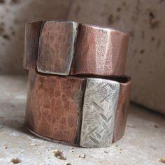 copper rings 2 tone