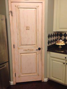Painted pantry door