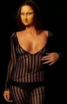 Mona Lisa posing for Lingerie by ArtFan (Germany).