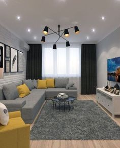 room lighting ideas living room living room decor for small living room wall living room room rugs living room living room Grey Walls Living Room, Living Room Color Schemes, Living Room Sofa, Living Room Interior, Home Interior, Home Living Room, Living Room Decor, Interior Design, Barn Living
