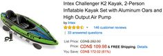 Amazon Canada Deals: Save 61% on Intex 2-Person Inflatable Kayak Set 75% on Esschert Metal Firebasket & 73% on ... http://www.lavahotdeals.com/ca/cheap/amazon-canada-deals-save-61-intex-2-person/189478?utm_source=pinterest&utm_medium=rss&utm_campaign=at_lavahotdeals