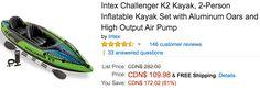 Amazon Canada Deals: Save 61% on Intex 2-Person Inflatable Kayak Set 75% on Esschert Metal Firebasket & 73% on ... http://www.lavahotdeals.com/ca/cheap/amazon-canada-deals-save-61-intex-2-person/189478?utm_source=pinterest&utm_medium=rss&utm_campaign=at_lavahotdeals