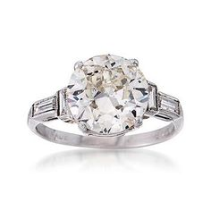 Ross-Simons - C. 1990 Vintage 2.80 ct. t.w. Diamond Ring in 14kt White Gold. Size 5 - #774703