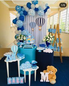 Boy Baby Shower Themes, Baby Shower Parties, Baby Boy Shower, Birthday Balloon Decorations, Baby Shower Decorations, Baby Boy Birthday, Baby Decor, Birthday Parties, Bernardo