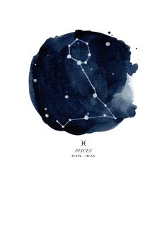 Zodiac Constellation - Pisces Art Print