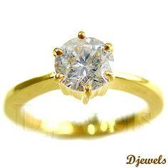 Diamond Ladies Ring in Hallmarked Gold [Rs    66,148]
