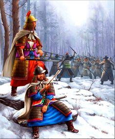 Goryeo Korean warriors in battle