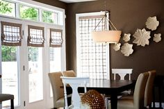 Sheer Banded Faux Roman Shades ~ Custom made by Endless Ideas Interiors #EndlessIdeas