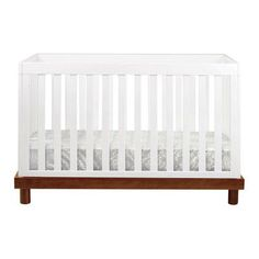 Baby Mod Olivia 3 in 1 Convertible Crib Finish: Brown/White