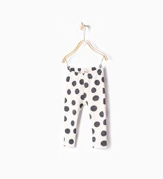 Image 1 of Polka dot print leggings from Zara