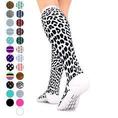 ea6141bfe Go2 Fashion Compression Socks for Men   Women 15-20 mmHg Athletic Running  Socks for