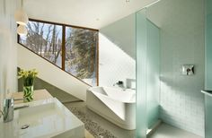 paroi de douche en verre de design moderne