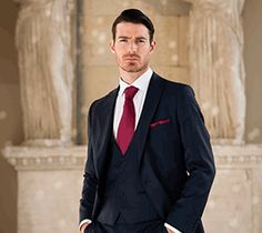 Navy Slim Fit from Cameron Ross #wedding #suits #formal