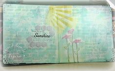 Sunshine altered book pages - Eclectic Paperie