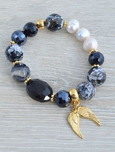 Women's Bracelets – Fine Sea Glass Jewelry Bead Jewellery, Wire Jewelry, Jewelry Crafts, Beaded Jewelry, Jewelry Bracelets, Diy Schmuck, Schmuck Design, Homemade Jewelry, Girls Necklaces