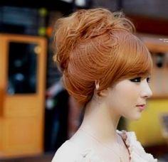Ulzzang topknot hair
