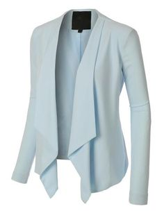 Sharpen your wardrobe with this open front draped long sleeve blazer jacket. A softly draped open-front silhouette softens the look while the asymmetrical hem adds a modern touch to this blazer. Professional Outfits, Work Wardrobe, Business Attire, Work Attire, Work Fashion, Blazer Jacket, Mantel, Work Wear, What To Wear