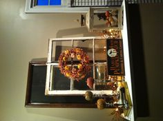 Fall mantle with window frame